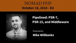 Pipelined: PSR-7, PSR-15, and Middleware