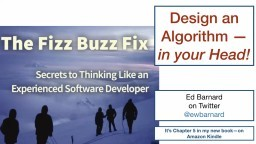 Design an Algorithm in your Head